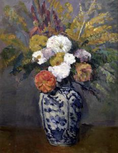 Dahlias c.1873 by Paul Cezanne