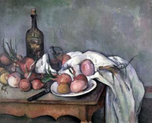 Still Life with Onions c.1895 by Paul Cezanne