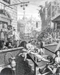 Gin Lane 1751 by William Hogarth