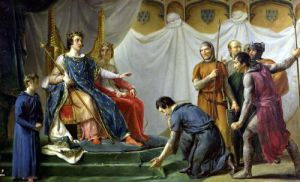 St. Louis Pardonning Mauclerc by Georges Rouget