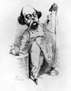 Gustave Flaubert Dissecting Madame Bovary by J. Lemot