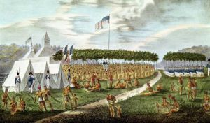 View of the Great Treaty Held at Prairie du Chien Wisconsin by James Otto Lewis