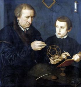 Johann I Neudorfer and his Son 1561 by Nicolas Neufchatel