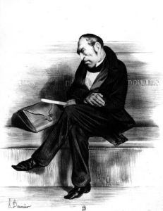 Caricature of Francois Guizot from 'Le Caricature' by Honoré-Victorin Daumier