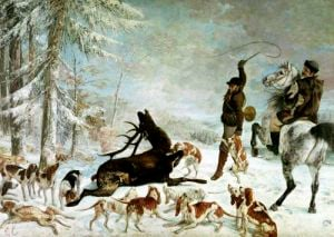 The Death of the Deer 1867 by Gustave Courbet