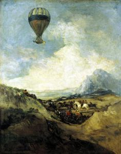 The Ascent of the Montgolfier by Francisco de Goya