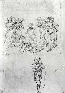 Study for the Adoration of the Shepherds by Leonardo da Vinci