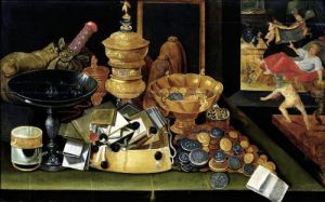 The Miser's Treasure by Flemish School