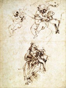 Study for the Virgin and Child with a Cat by Leonardo da Vinci