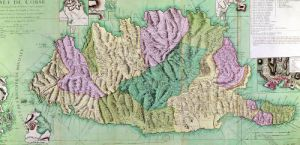 Military map of Corsica 1768 by French School