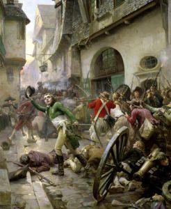 Henri de La Rochejaquelein at the Battle of Cholet 1793 by Paul Emile Boutigny