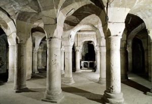 View of the crypt by French School