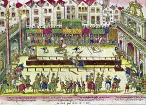 Tournament during which Henri II was injured by the Count of Montgomery by Franz Hogenberg