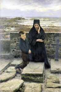 The Widow of the Ile de Sein 1880 by Emile Renouf