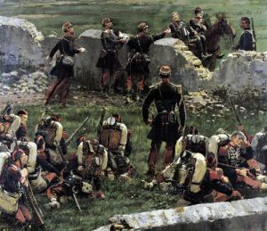 Fragment of the Panorama of the battle of Rezonville 1883 by Jean-Baptiste Edouard Detaille