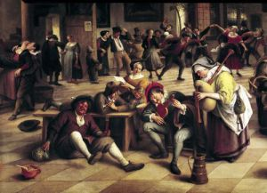 Feast in an Inn 1674 by Jan Havicksz Steen