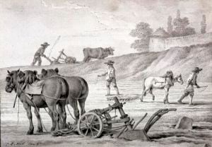 Ploughing the Fields by Jean-Baptiste Huet