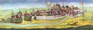 View of Bourges and the University Capital of Berry 1646 by French School