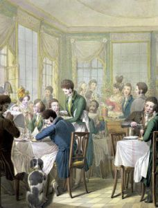 The Restaurant in the Palais Royal 1831 by Georg Emanuel Opitz
