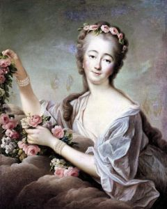 Portrait of the Countess du Barry as Flora by Francois-Hubert Drouais