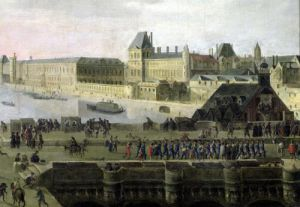 View of the Pont-Neuf and the River Seine c.1633 by Flemish School