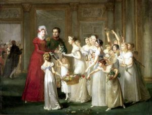 The Arrival of Marie-Louise de Habsbourg-Lorraine 1810 by Pauline Auzou
