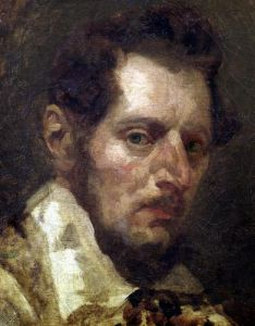 Self portrait by Jean-Louis-André-Théodore Géricault