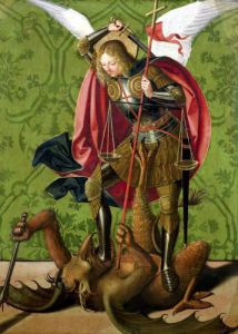 St. Michael Killing the Dragon by Josse Lieferinxe
