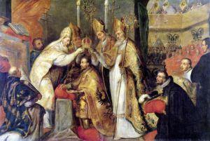 The Coronation of Charles V Holy Roman Emperor by Cornelius Schut I