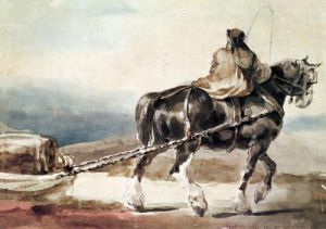 The Stagecoach by Jean-Louis-André-Théodore Géricault