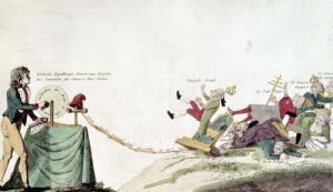 Revolutionary cartoon 1793 by French School