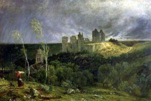 The Ruins of Chateau de Pierrefonds 1861 by Paul Huet