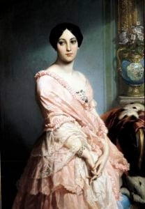 Portrait of Madame F 1850 by Claude-Marie Dubufe
