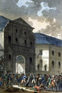 The Pillage of the Saint-Lazare Convent 1789 by Jean-Francois Janinet