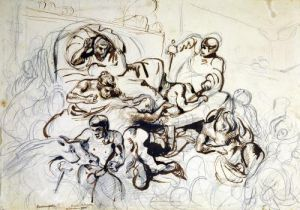 Study for the Death of Sardanapalus 1864 by Eugene Delacroix
