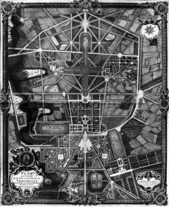 General plan of the town and Chateau of Versailles by Pierre Lepautre
