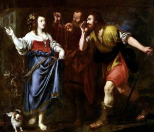 Rahab and the Emissaries of Joshua by Italian School