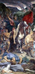 Attila and his Army Marching on Paris by Jules Elie Delaunay