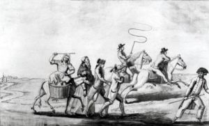 The First Runaways of the Revolution by French School