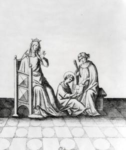 Blanche de Castille Queen of France and her Son Louis by French School