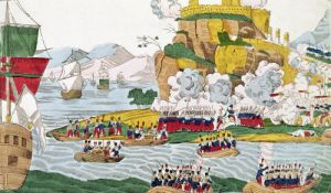 The Taking of Algiers by the French 1830 by French School