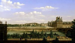 View of the Gardens and Palace of the Tuileries 1813 by Etienne Bouhot