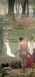 The Childhood of St. Genevieve by Pierre Puvis de Chavannes