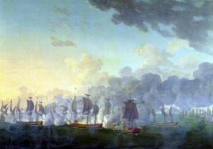 The Battle of Louisbourg 1781 by Auguste Rossel de Cercy