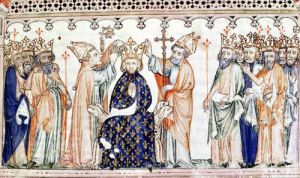 The Consecration of Philippe III le Hardi King of France by French School