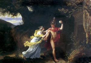 Ariadne and Theseus by Jean-Baptiste Regnault