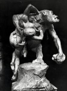 Gorilla Abducting a Woman by Emmanuel Fremiet