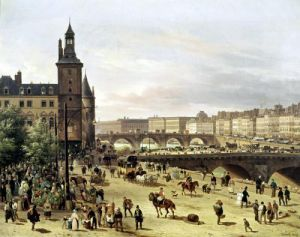 The Flower Market 1832 by Guiseppe Canella
