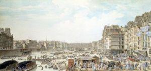 The Port au Ble and the Pont Notre-Dame 1782 by Louis-Nicolas de Lespinasse