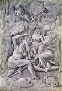 The Witches' Sabbath c.1515 by Hans Baldung Grien